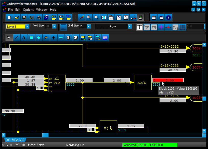 Monitoring a CAD Drawing LIVE!